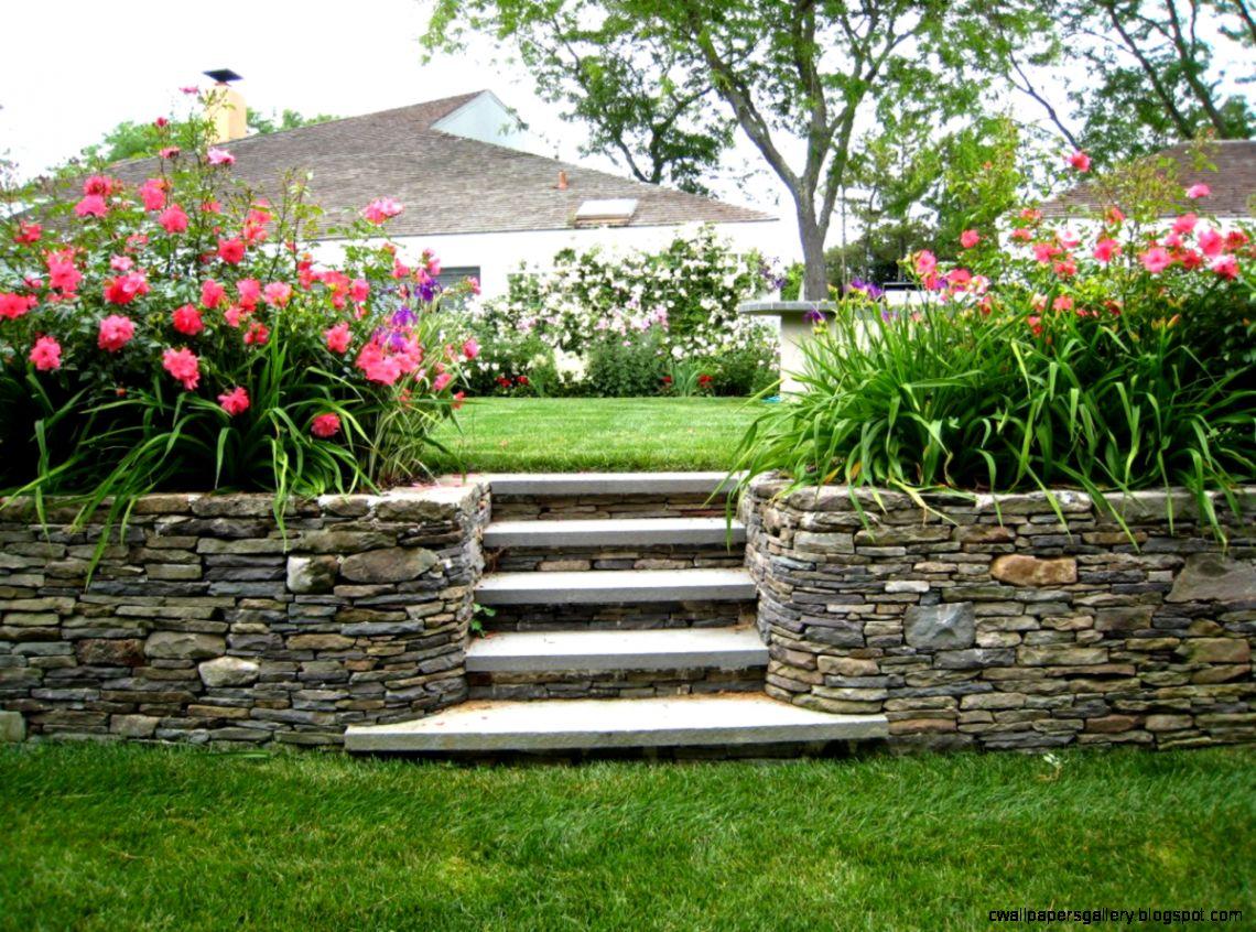 Beautiful Flowers Garden House Wallpapers Gallery