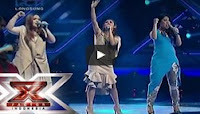JEBE & PETTY & CLARISA - CAN'T HOLD US (Macklemore) - Result & Reunion - X Factor Indonesia 2015
