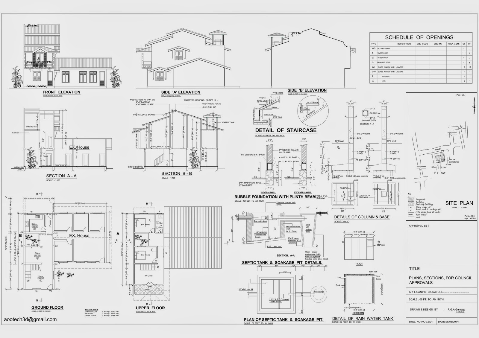 Aoo3d auto cad house drawing free Autocad house drawings