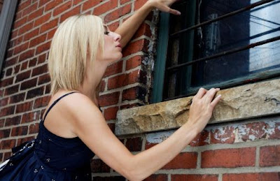 Are You Over Your Ex - woman look Stalking at window