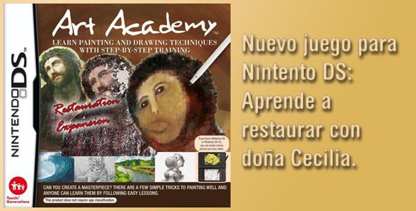 Nuevo juego de Nintendo DS: Aprende a restaurar con doña Cecilia