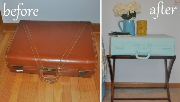 diy suitcase endtable