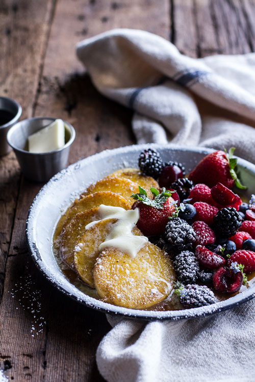 Homespun: Polenta Pancakes + Berries