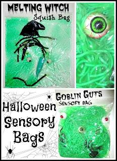 Halloween fun with sensory bags
