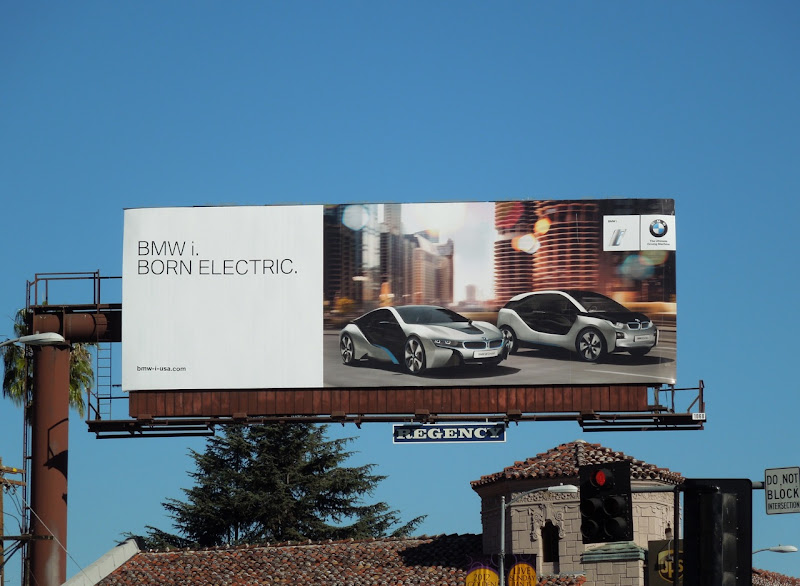 BMWi Born Electric car billboard
