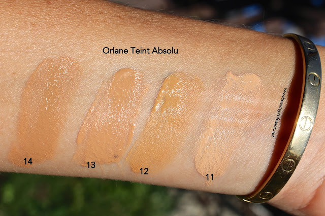 orlane teint absolu swatches