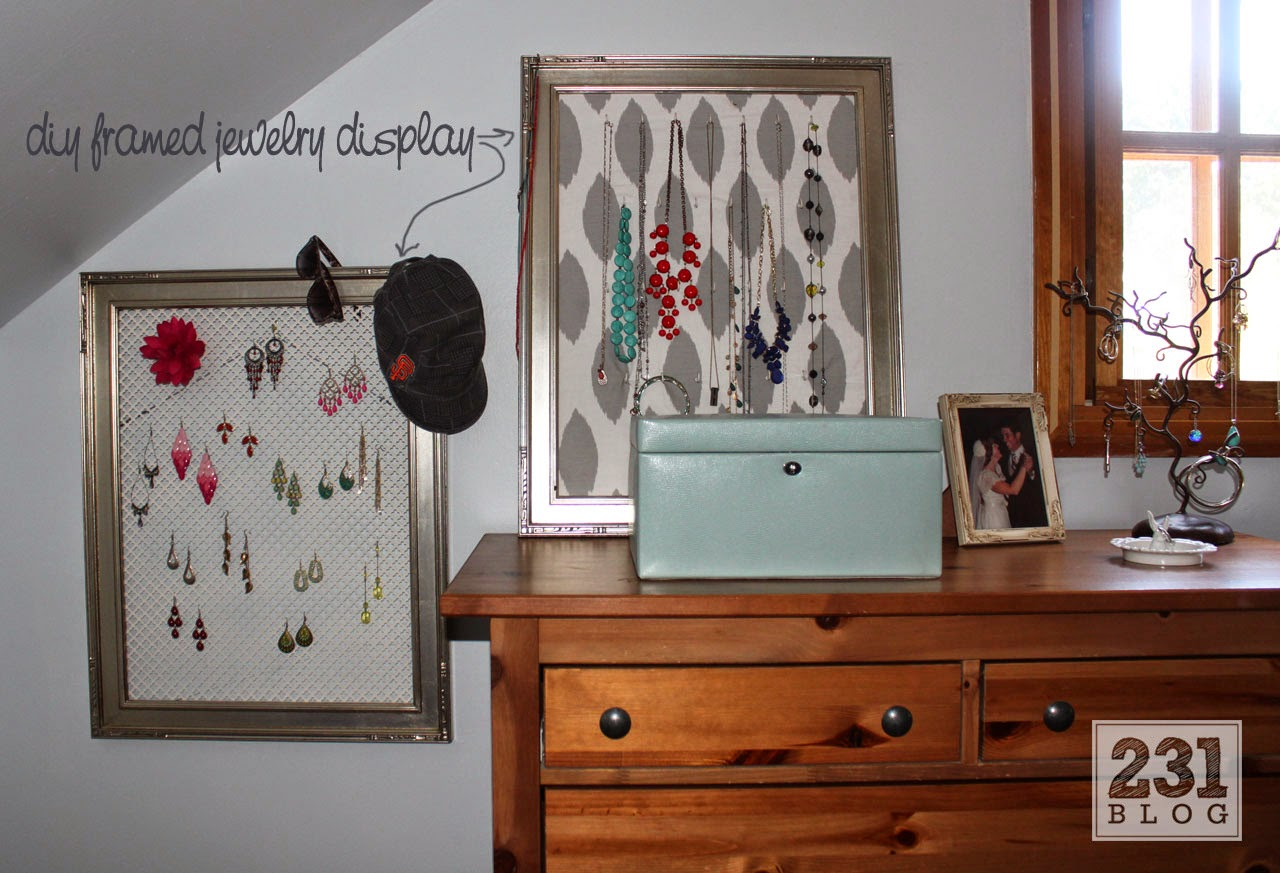diy framed jewelry display using sheet metal