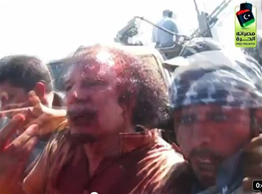 GADDAFI CAPTURED ALIVE, THEN LYNCHED?