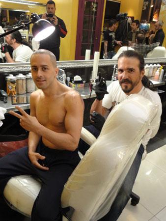Yandel se tatuó en Argentina despues de Grabar 'Frio'