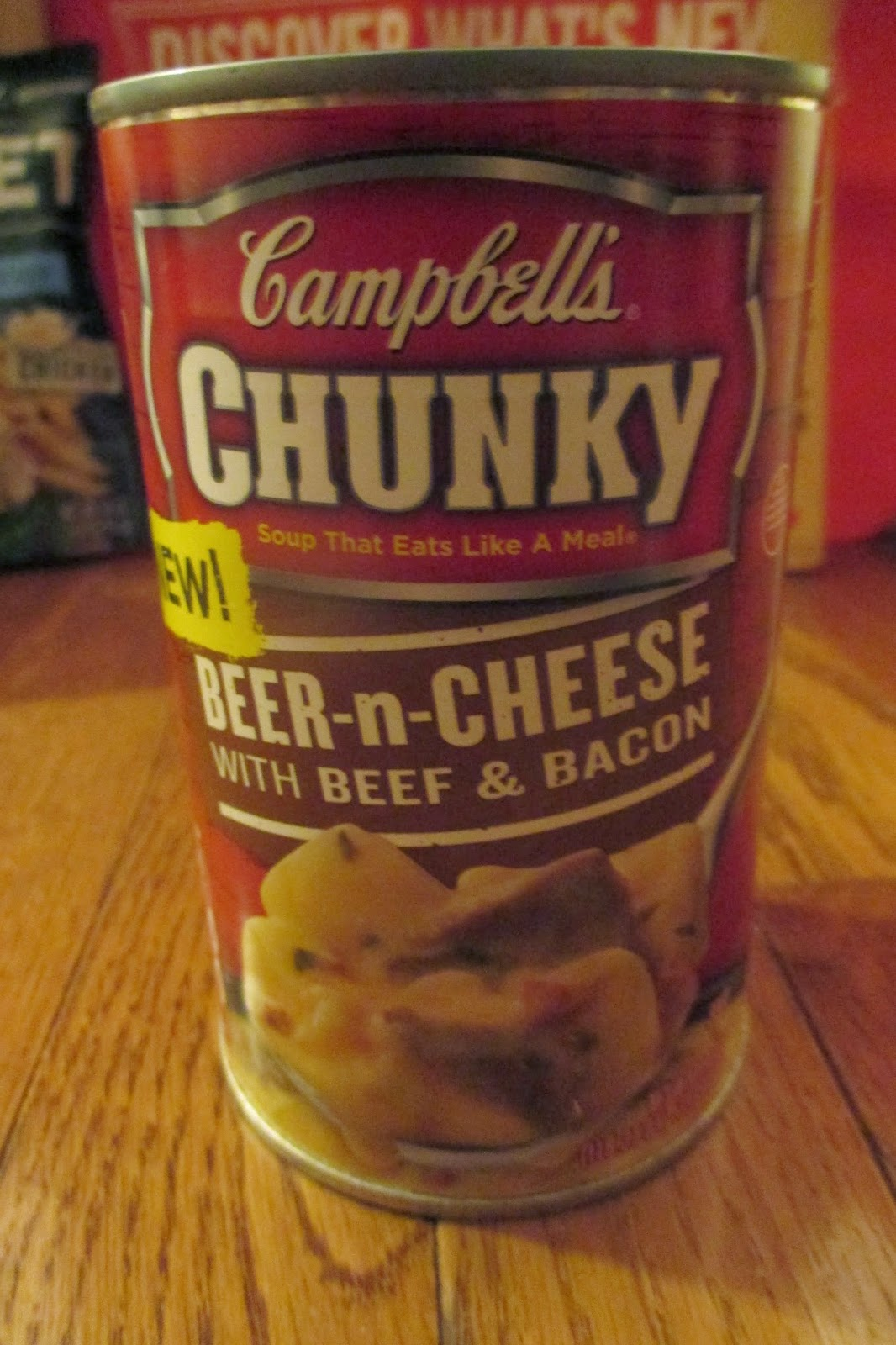 Campbell's Chunky Beer-n-Chees with beef and bacon soup