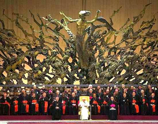 Satan Enthroned in Vatican and Papal infallibility together
