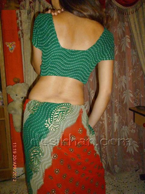 Desi Wife Nima From Himachal Stripping Saree indianudesi.com