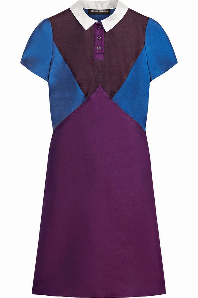 Ostwald Helgason Colour-block twill dress
