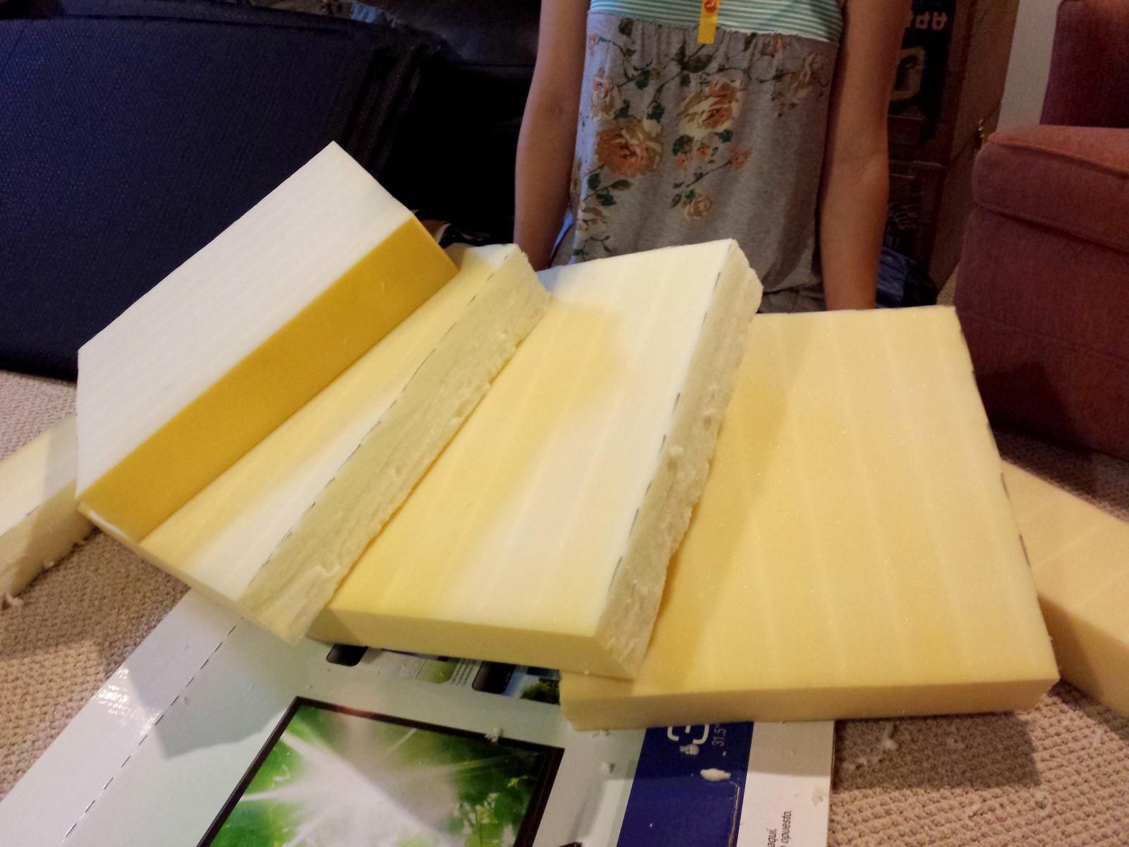 Diy no sew patio seat cushions come along with chong 4 foam cushions solutioingenieria Images