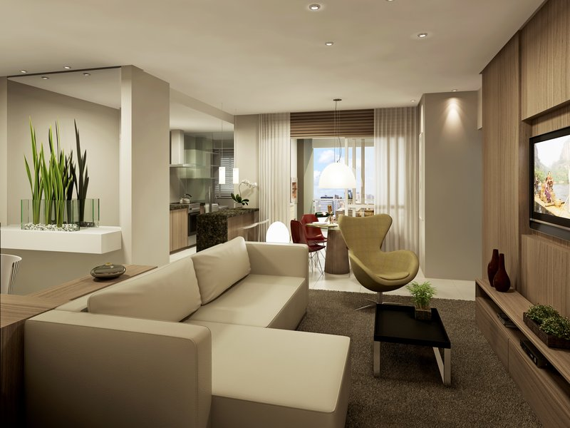Arte e design dividindo sutilmente o ambiente for Modelos de divisiones de sala y comedor