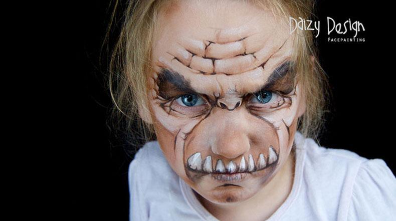 Fantástica pinturas faciales en rostros de niños por Christy Lewis