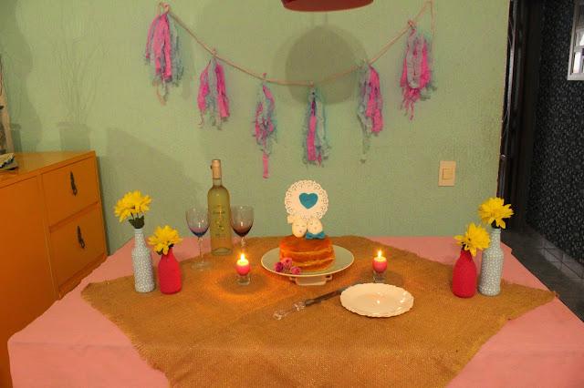 Decoração Bodas de 10 anos de casamento - Mini Festa DIY - topo de bolo com casca de ovos