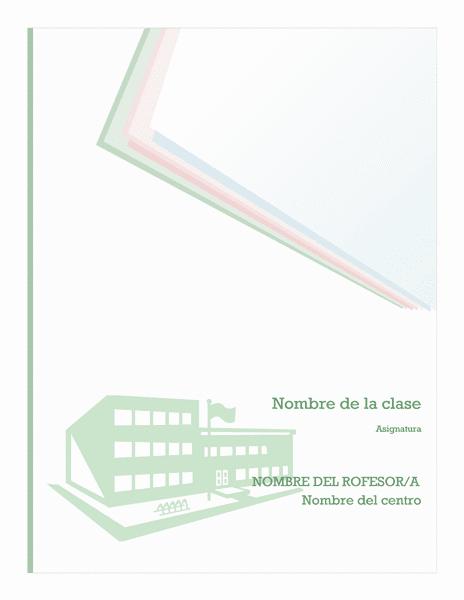 Free Online Gratis: Descargar plantilla Kit de cuaderno escolar de ...