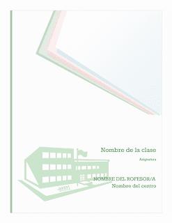 Descargar plantilla Kit de cuaderno escolar de notas, portada, lomo y fichas de división, word