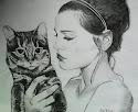 Rysunek Zoey z kotkiem