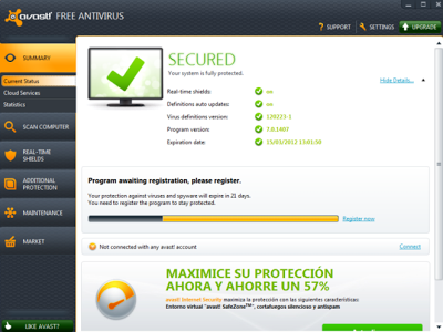 See below how to get avast free one year license key for your windows