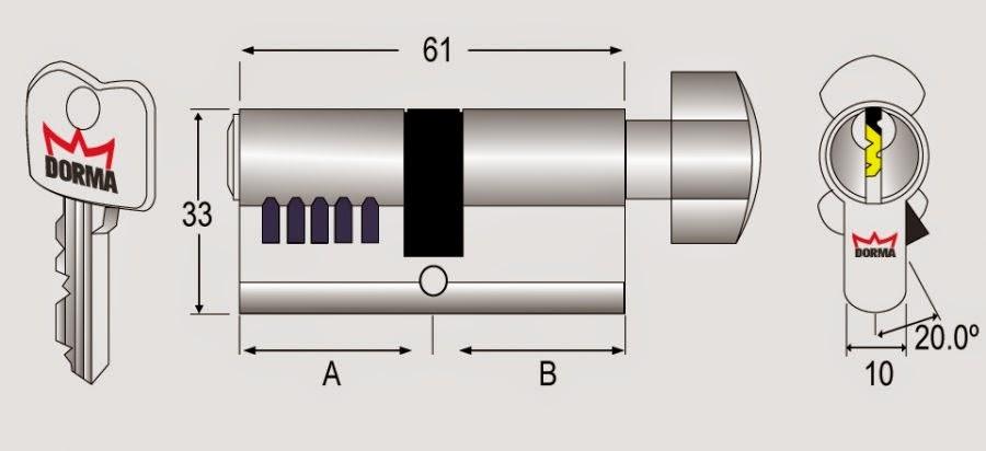 Ổ khóa cửa thép PC 93 Dorma