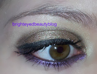 Gold and Purple Eye Look Vice Palette Urban Decay
