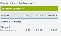 Apuestas Rosberg Villarreal-Valencia Fútbol – Liga BBVA España Betfair