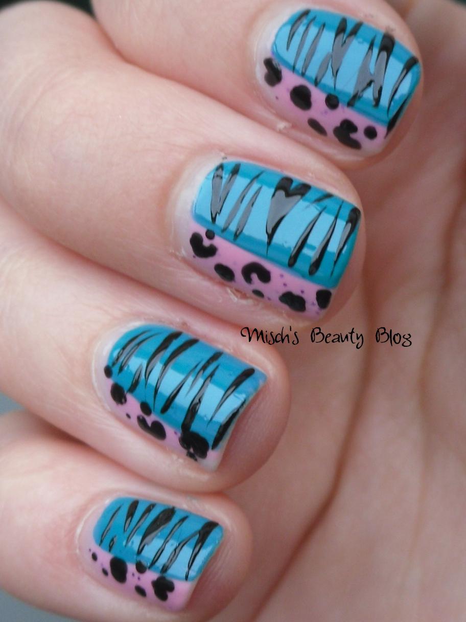 Misch\'s Beauty Blog: NOTD April 18th: Double Animal Print Nail Art