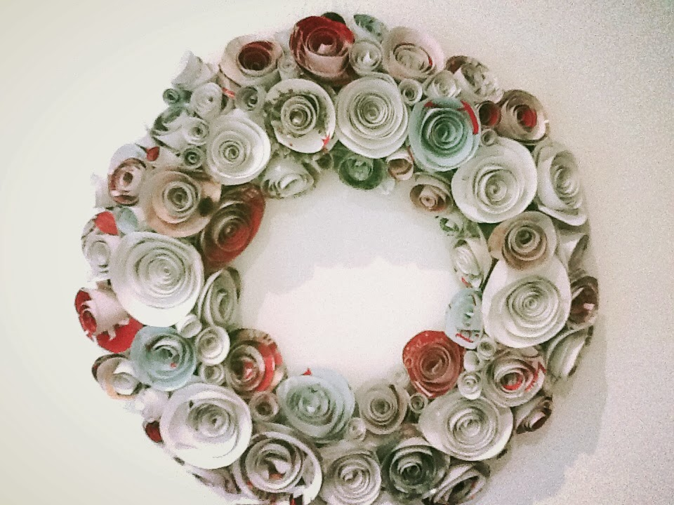 DIY Christmas Wreath - Paper Roses | Harlow & Thistle - Home ...