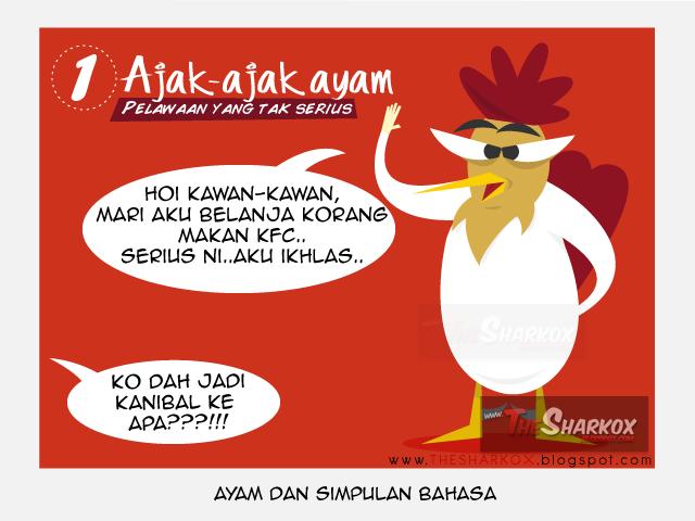 Simpulan Bahasa yang menggunakan ayam tapi tiada kaitan langsung