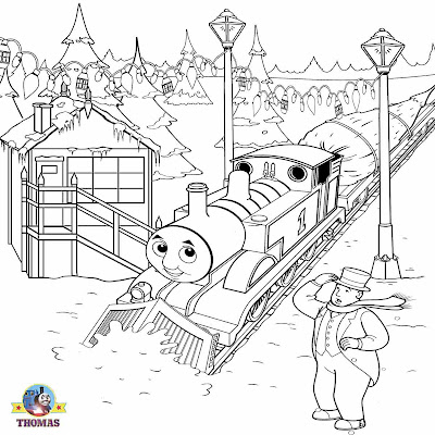 Thomas Christmas coloring pages for kids winter snow Xmas tree clip art printable coloring sheets