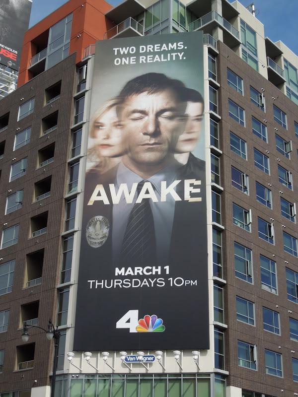 Giant Awake TV billboard