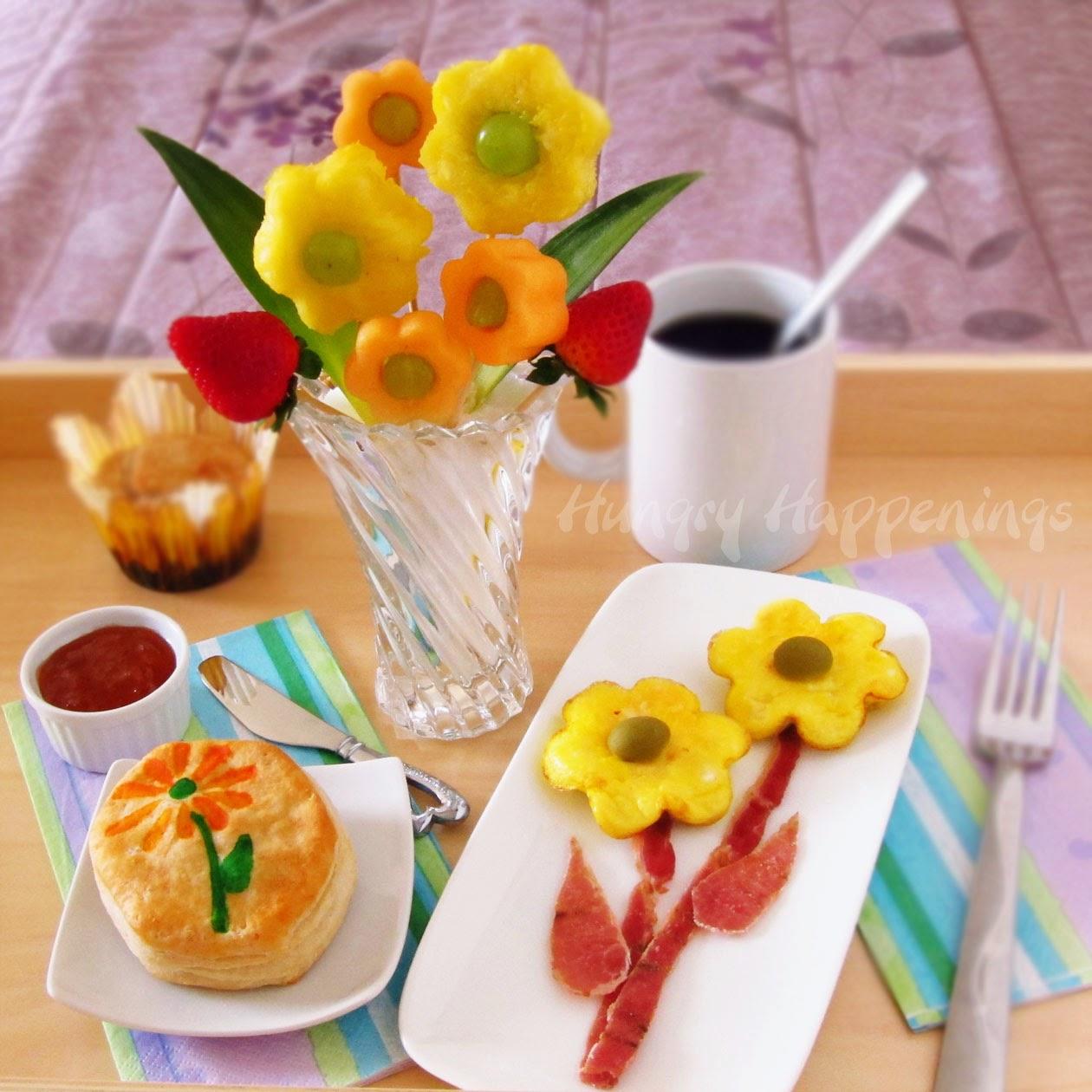 café da manhã especial dia das mães ovo bacon pão