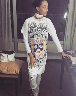 Check Out Singer Di'ja's Outfit At 2015 Glo CAF Awards