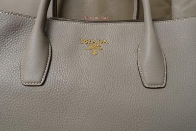 Prada Daino Medium Shoulder Tote Bag Light Gray 103