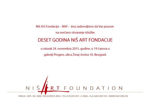 Izložba povodom deset godina Niš Art Fondacije