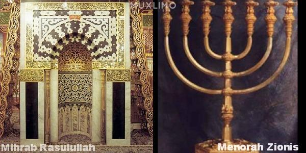 Mihrab.Rasulullah.Saw.dan.menorah.zionis