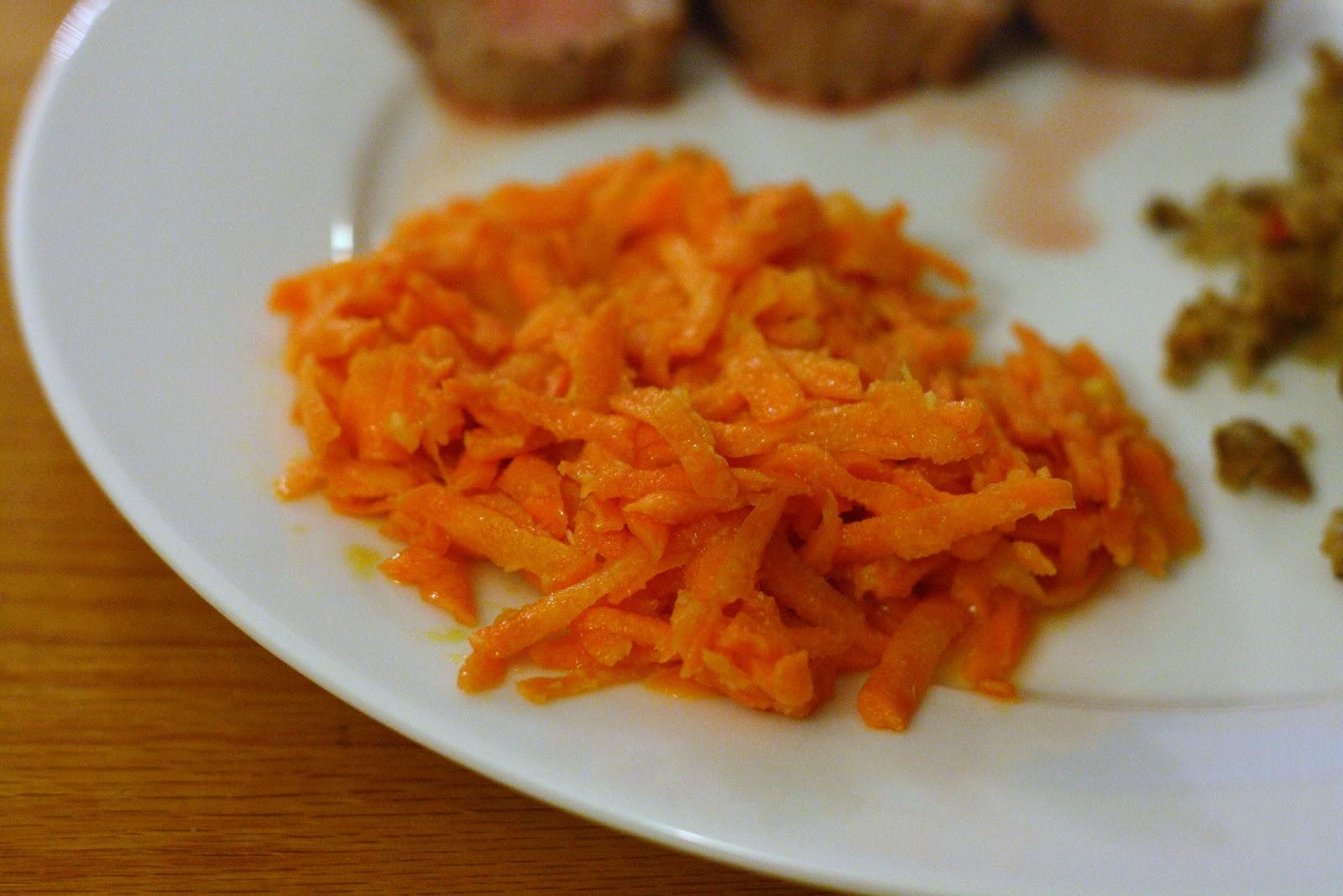 Shredded Carrot Salad with Horseradish Vinaigrette