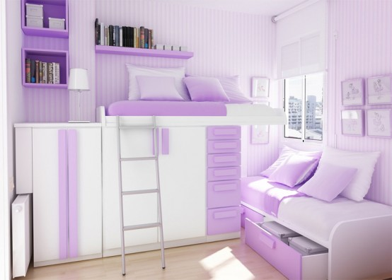 Purple Teen Girl Bedroom Ideas 554 x 396