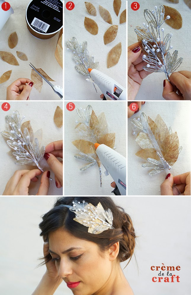DIY Beaded Bridal Headband
