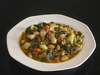 Traditional Greek Pinto Beans - Handres - with Chard Recipe