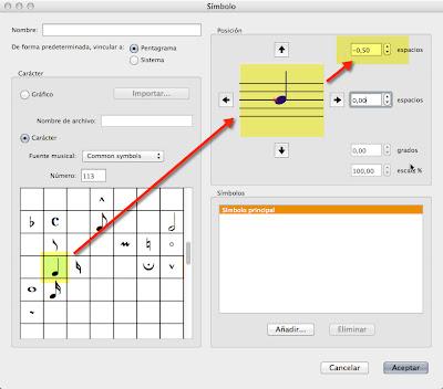Editando los símbolos y notaciones en Sibelius. Un caso práctico ...