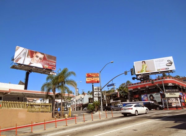 Mad Men vintage style Emmy 2014 consideration billboards Sunset Strip