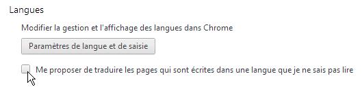 capture d'écran Google Chrome