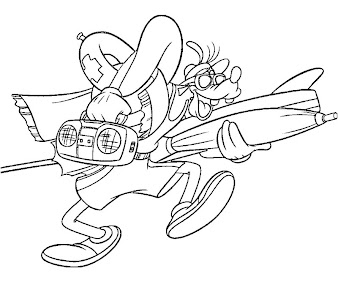 #9 Goofy Coloring Page