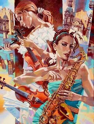 figura-humana-con-instrumentos-musicales-al-oleo