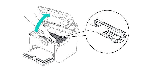 Cambiar toner impresora Brother HL-1210W