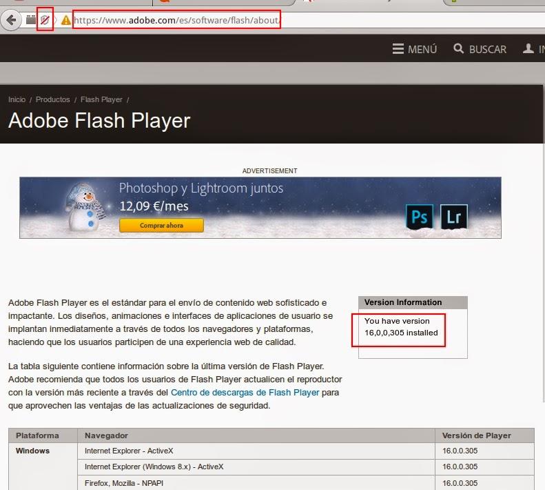 adobe flash player 16