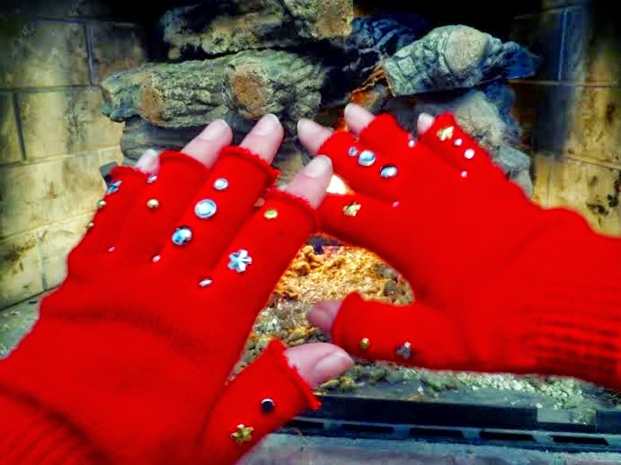 diy rhinestone gloves
